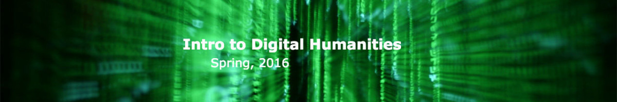 Intro to Digital Humanities 2016